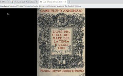 Lezione online sull'Alcyone di D'Annunzio